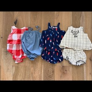 Gap and old navy baby rompers and two pieces